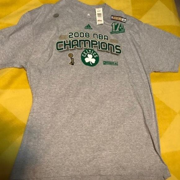 Adidas camisetas NBA Celtics campeones gran NWT poshmark 2008